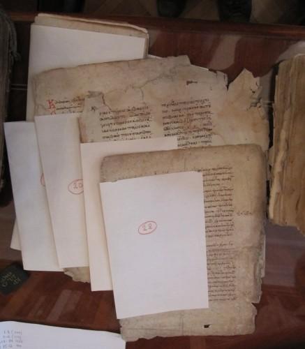 Les fragments une fois numérotés et classés
