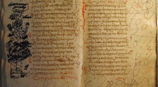 Dessins et gribouillages dans les manuscrits de la Trinité
